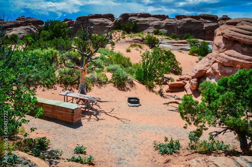 Tableau sur Toile Campsite - Arches National Park - Moab, Utah