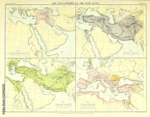 Fotografia The four empires on the same scale.