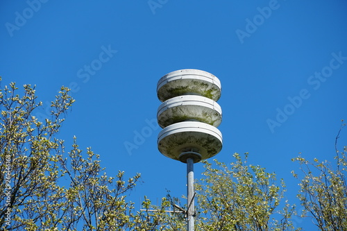 Stampa su Tela Civil defense siren installation in the Netherlands, used to provide emergency population warning of approaching danger