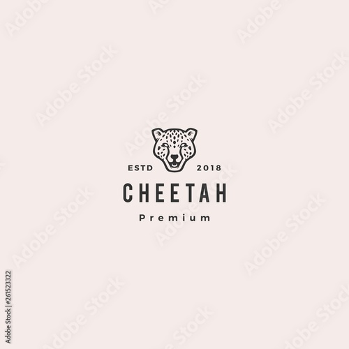 Tableau sur Toile panther cheetah head logo vector icon illustration
