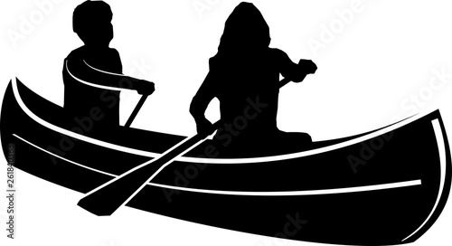 Photo Canoe Paddle SIlhouette