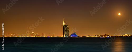 Photo Dubai night panorama