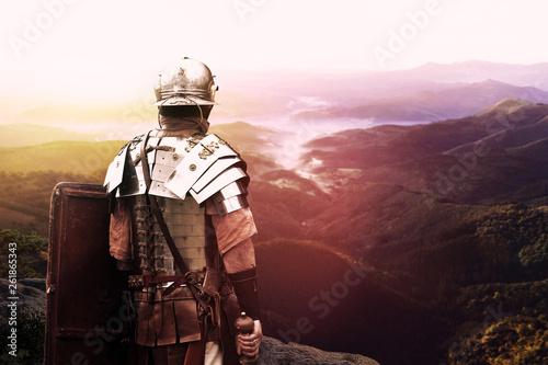 Obraz na płótnie ancient roman legionary soldier