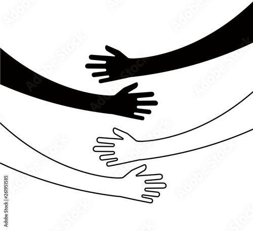 Wallpaper Mural Hugging hands
