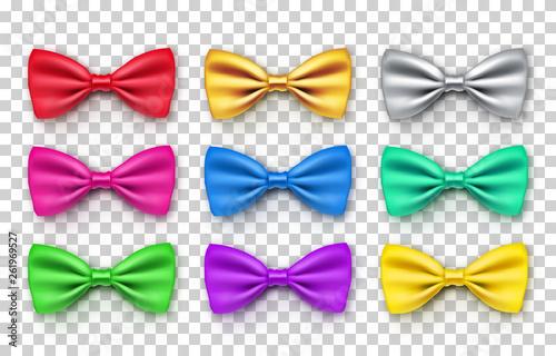 Vászonkép Beautiful bow tie from satin material