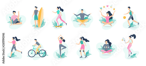 Photographie Healthy lifestyle infographic. Sport and fitness, healthy