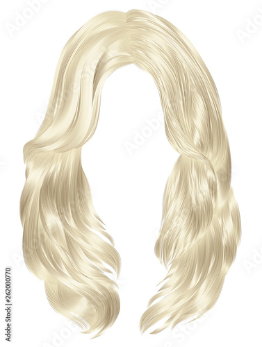 Foto trendy woman long hairs blond colors