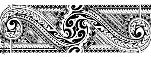 Fotografie, Obraz Tribal tattoo sleeve