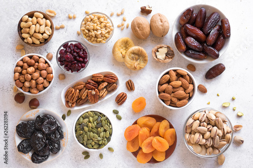 Canvas Print Dried Fruits and Nuts