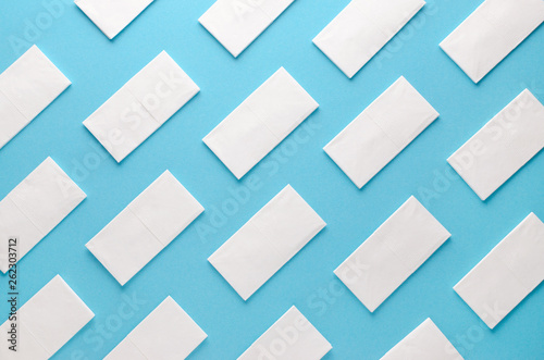 paper tissue abstract pattern on blue background Fototapete