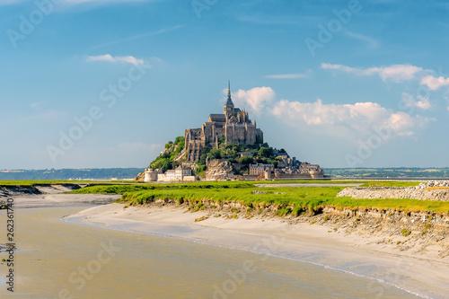 Obraz na plátně Mont Saint Michel tidal island in summer, Normandy, northern France