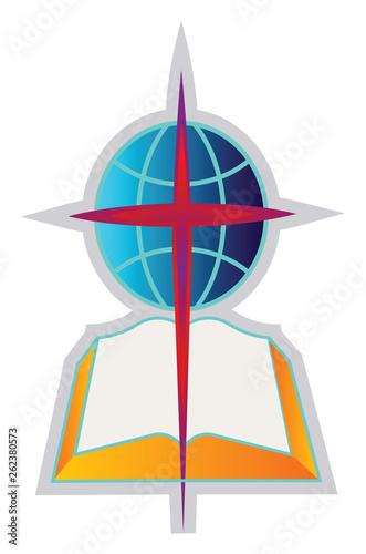 Canvas Print Baptist church symbol vector illustration on a white background