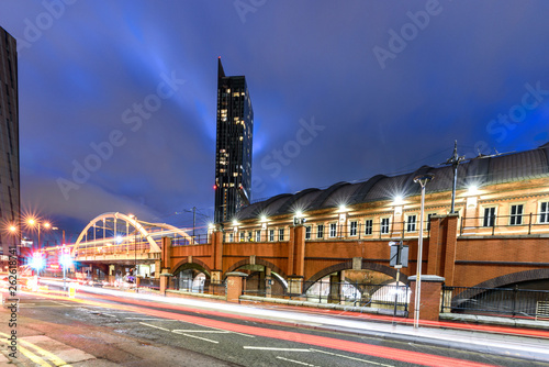 Fotografering Beetham tower used to be the tallest building in Manchester.