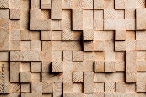 Tło wykonane z drewnianych kostek
