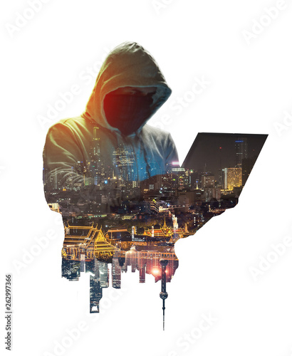 Valokuva Internet crime concept