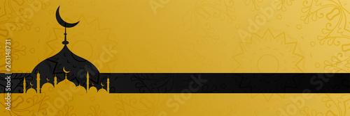 Fotografie, Obraz stylish golden mosque design islamic banner