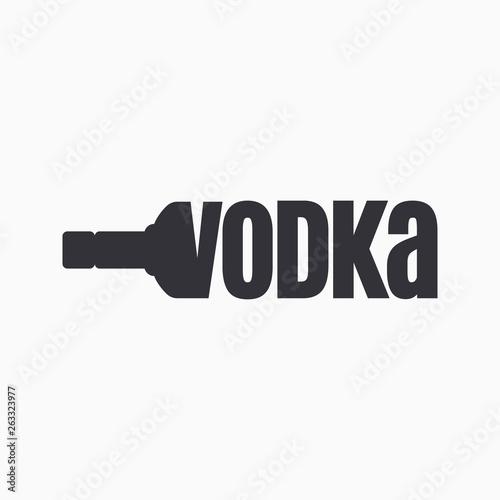 Fotografie, Obraz Vodka bottle logo. Lettering sign of vodka