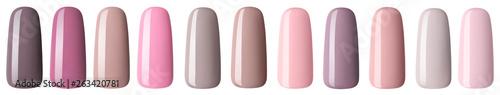 Fotografija Nail polish in fashion multicolored pastel color