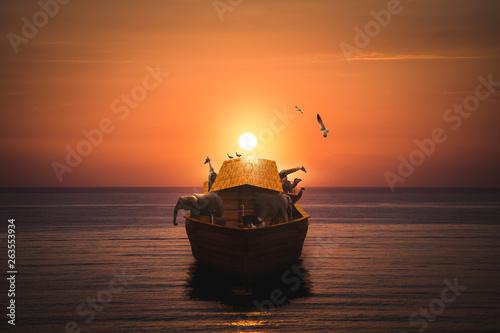 Fotografia, Obraz Noahs Ark on the sea