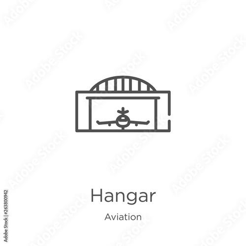 Fotografia hangar icon vector from aviation collection