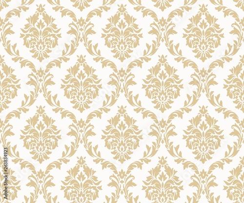 Fotografie, Obraz Vector seamless damask gold patterns