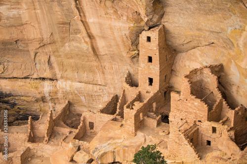 Fotografie, Tablou Ruins of an ancestral Puebloan cliff dwelling at Mesa Verde National Park