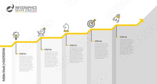 Fotografia Infographic design template. Creative concept with 5 steps