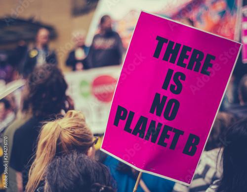 Fototapeta Climate Change March Sign
