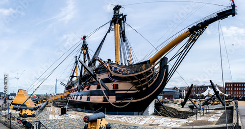 Canvas Print HMS Victory is a 104-gun first-rate ship of the line of the Royal Navy, ordered in 1758, laid down in 1759 and launched in 1765