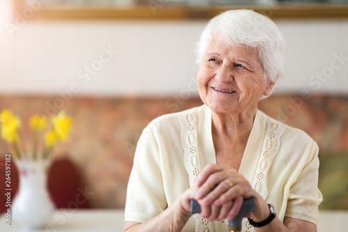 Obraz na plátne Portrait of an elderly woman
