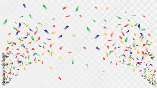 Fényképezés Shot of confetti crackers on a transparent background, celebration and celebrati