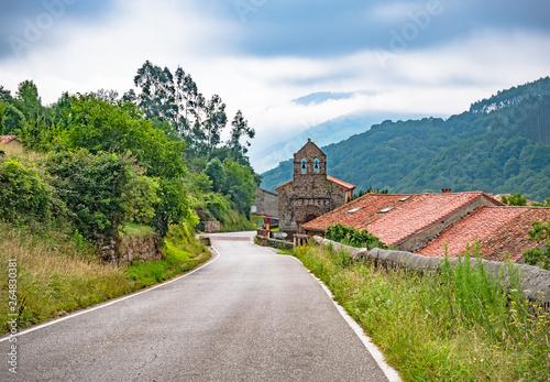 Billede på lærred Old church on the Way of St
