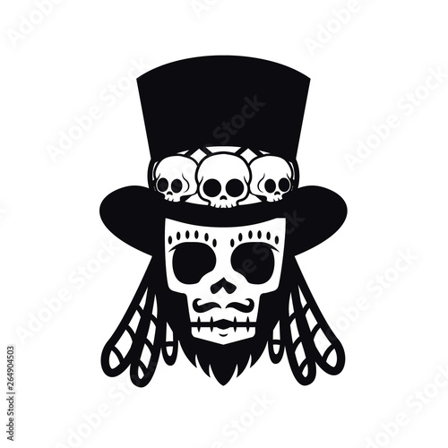 Tablou Canvas Papa Legba, voodoo man Halloween illustration vector