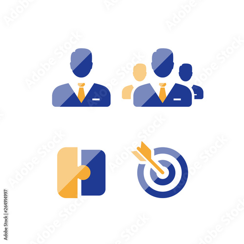 Foto Small and big business solutions, corporate service, project management, venture