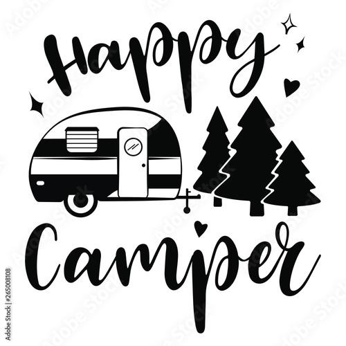 Tela Happy Camper vector download