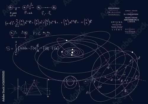 Formulas of classical mechanics, Newton's laws Fototapet