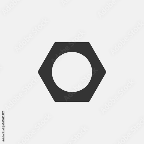 Canvastavla Hex nut vector icon