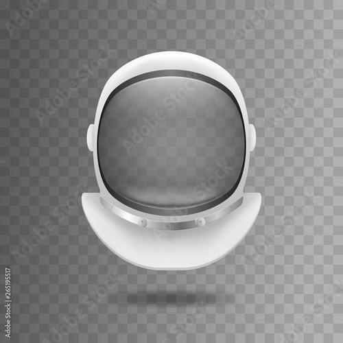 Stampa su Tela Realistic 3d Detailed White Cosmonaut Helmet. Vector