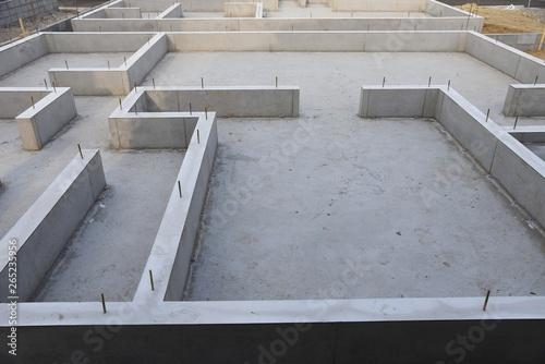 Fotografiet Foundation work of housing construction
