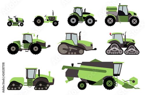 Fotografia Agricultural mechanization flat icons