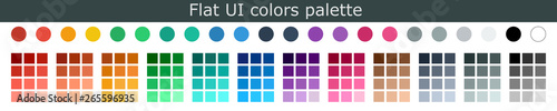 Photo Set of colorful trendy flat color template