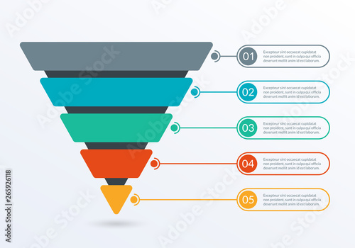 Fototapeta Sales and Marketing Funnel