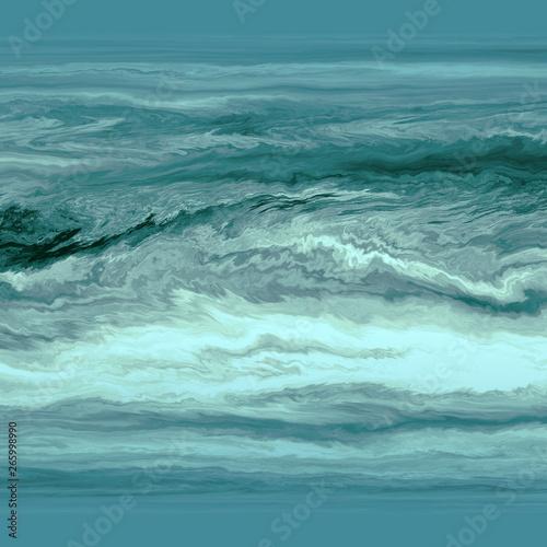 Canvas Print Abstrakt fraktal Wolken Sturm Wasser ozean Grafik
