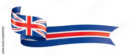 Canvas Print United Kingdom flag, vector illustration on a white background