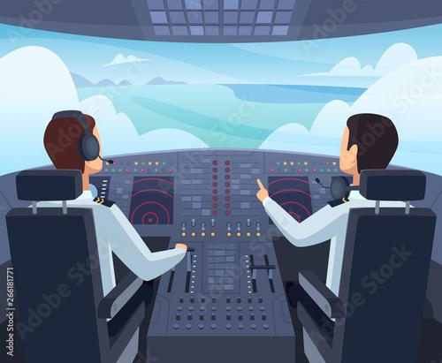 Fotografie, Tablou Airplane cockpit