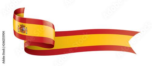 Photo spain flag, vector illustration on a white background