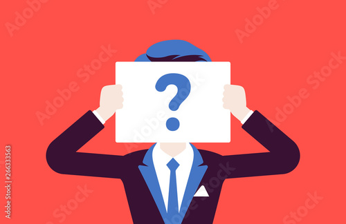 Anonymous man with question mark Fototapeta