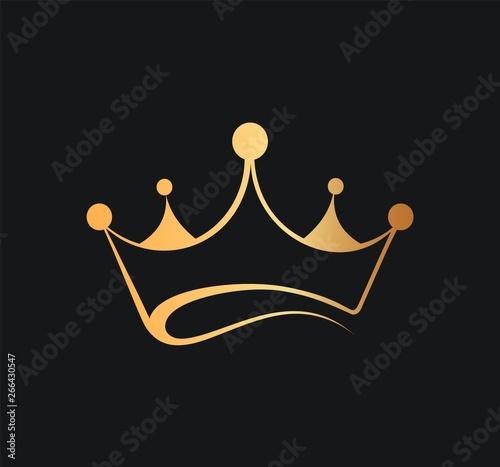 Fototapeta Queens or kings crown vector logo