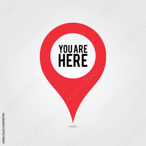 Obraz na płótnie You Are Here Location Pointer Pin