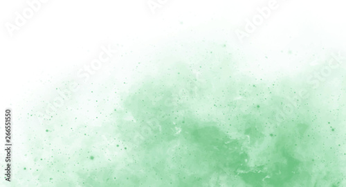 Abstract green watercolor background for your design, watercolor background concept, vector.